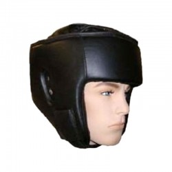 Kopfschutz Schwarz Kunstleder