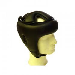 Trainings Kopfschutz Schwarz Kunstleder