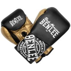 Benlee Cyclone Boxhandschuhe 10oz R Leder Gold White Black