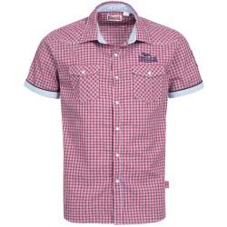 Lonsdale Berny Herren T-Shirt Hemd Slim Fit Red Blue White