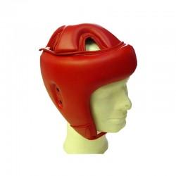 Trainings Kopfschutz Rot Kunstleder
