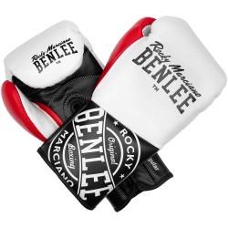 Benlee Cyclone Boxhandschuhe 10oz R Leder White Black Red
