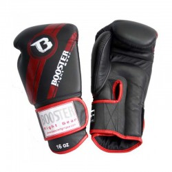 Booster Boxing Gloves BGL 1 V3 Black  Red Foil Leather