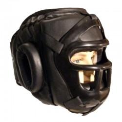 Escrima Kopfschutz Schwarz Plastikgitter
