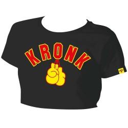 Kronk Gloves Cropped Women T-Shirt Black
