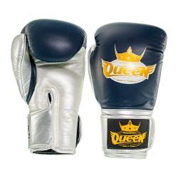 Abverkauf Queen Pro 1 Damen Boxhandschuhe blau silber