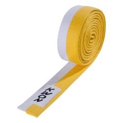 Kwon Budogürtel 4cm gelb weiss
