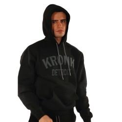 Kronk Detroit Applique Hoodie Black Charcoal