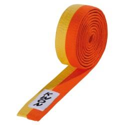 Kwon Budogürtel 4cm gelb orange