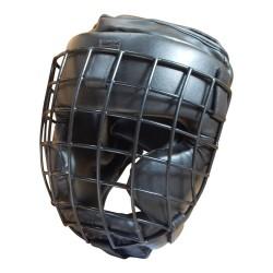 Kopfschutz Jochbeinschutz Metallgitter Schwarz