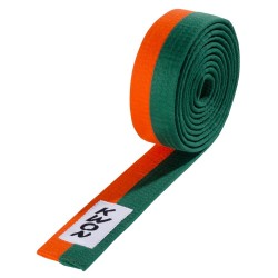 Kwon Budogürtel 4cm orange grün