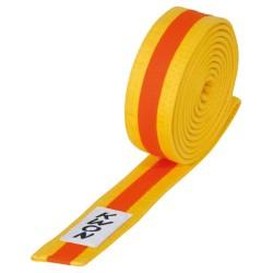 Kwon Budogürtel 4cm gelb orange gelb