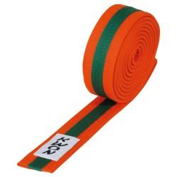 Kwon Budogürtel 4cm orange grün orange