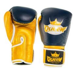 Abverkauf Queen Pro 2 Damen Boxhandschuhe blau gold