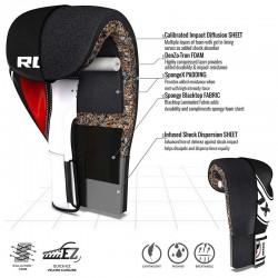 RDX Boxhandschuh Kids weiss schwarz