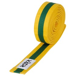 Kwon Budogürtel 4cm gelb grün gelb