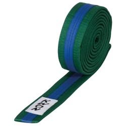 Kwon Budogürtel 4cm grün blau grün
