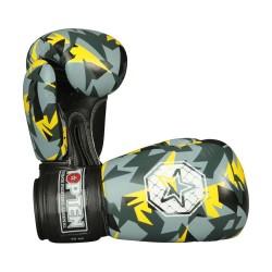 Top Ten Jungle Boxhandschuhe Schwarz Gelb