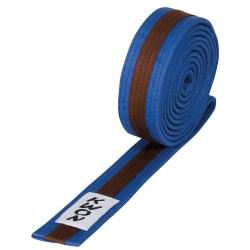 Kwon Budogürtel 4cm blau braun blau