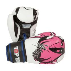 Top Ten Vikings Boxhandschuhe Weiss Pink