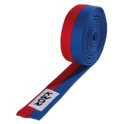 Kwon Budogürtel 4cm blau rot