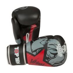 Top Ten Vikings Boxhandschuhe Schwarz Rot