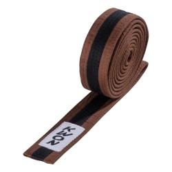 Kwon Budogürtel 4cm braun schwarz braun