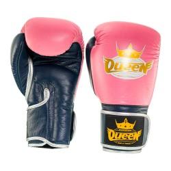 Abverkauf Queen Pro 3 Damen Boxhandschuhe pink blau