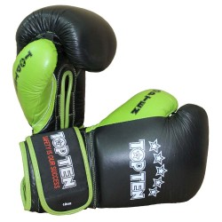 Top Ten Color N Black Boxhandschuhe Schwarz Grün