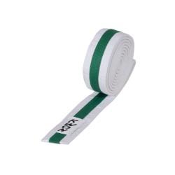 Kwon Budogürtel 4cm weiss grün weiss