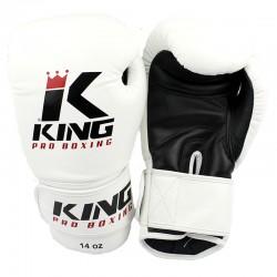 King Pro Boxing KPB BG 2 Boxhandschuhe Leder White