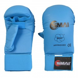 Abverkauf SMAI WKF Karate Handschutz Mit Daumen Blau