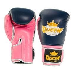 Abverkauf Queen Pro 4 Damen Boxhandschuhe blau pink