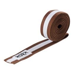 Kwon Budogürtel 4cm braun weiss braun