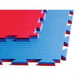 Phoenix Kampfsportmatte Professional Double Blau Rot 100x100x2cm