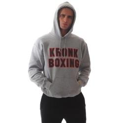 Kronk Boxing Hoodie Sport Grey Red Black