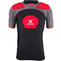 Gilbert Rugby Schulterschutz Atomic V3 Black Red