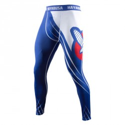 Abverkauf Hayabusa Recast Compression Pants Blue White