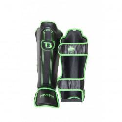 Booster V6 Shinguards Black Green BSG Skintex