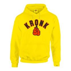 Kronk Gloves Applique Hoodie Yellow