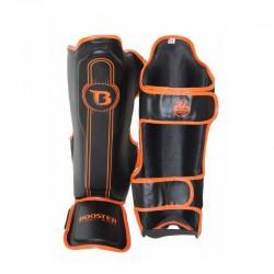 Booster V6 Shinguards Black Orange BSG Skintex