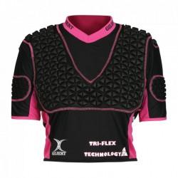 Gilbert Rugby Schulterschutz Triflex Womens XP3 Black Pink