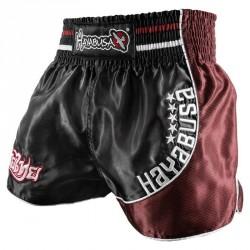 Hayabusa Lion Warrior Muay Thai Shorts Black Burgundy