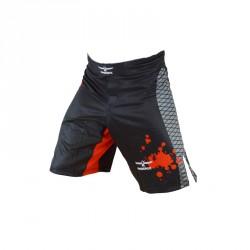 Phoenix MMA Shorts Schwarz Rot Grau Stretch