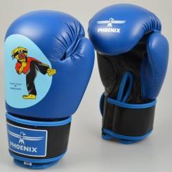Abverkauf Phoenix Junior Boxhandschuhe PU Blau Budobaert