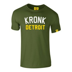 Kronk Iconic Detroit Slim Fit T-Shirt Military Green