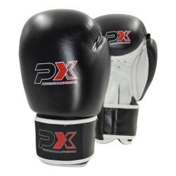 Phoenix PX Boxhandschuhe Schwarz Weiss Leder