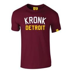 Kronk Iconic Detroit Slim Fit T-Shirt Maroon