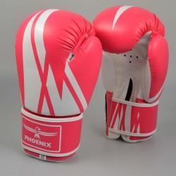 Phoenix Boxhandschuhe Pink Weiß Kunstleder