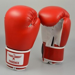 Phoenix Boxhandschuhe Rot Weiß Kunstleder